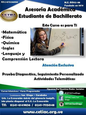 Clases particulares de bachillerato (matematica fisica