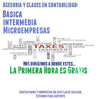 Clases y asesoria en contabilidad basica e intermedia