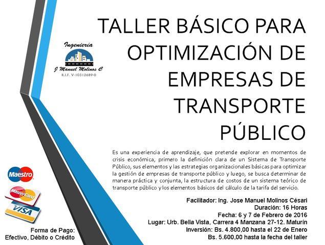 Curso taller básico de optimización de empresas de