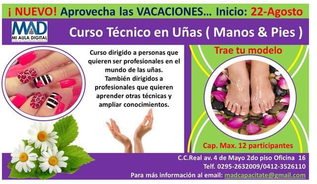 Curso técnico en uñas (manos & pies)