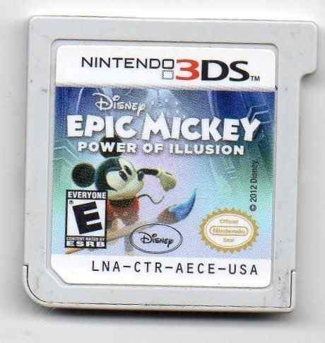 Epic mickey power of illusion solo cartucho 3ds juego origi