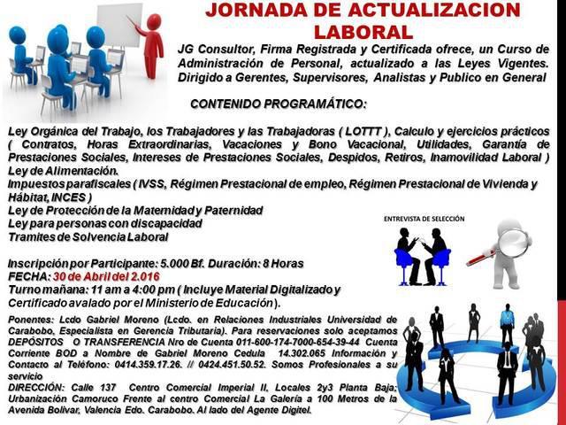 Jornada de actualización laboral valencia edo. carabobo