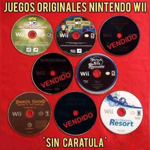 Juegos originales nintendo wii cd