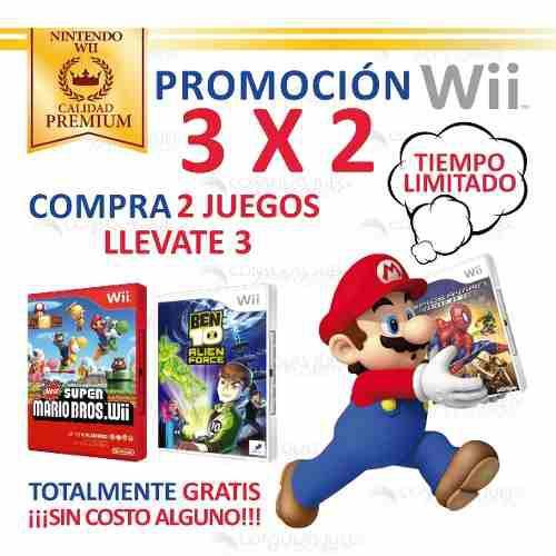 Mario bros y mas juegos originales nintendo wii y wiiu