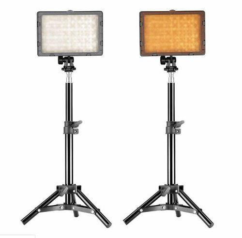 Neewer led 126 video light dimmable panel led con soporte
