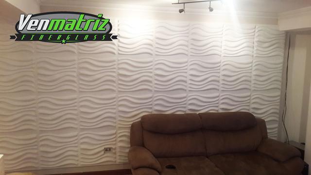 Paneles decorativos 3d en yeso