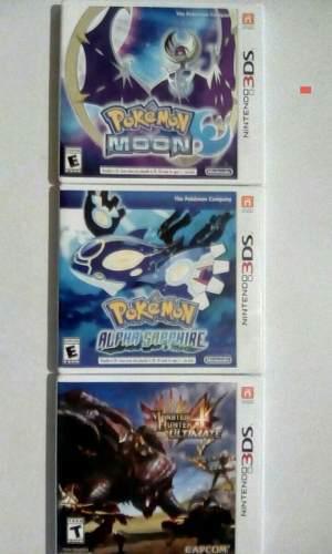 Pokémon moon, pokémon alpha sapphire, monster hunter 4u