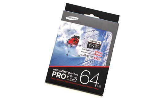 Samsung microsd pro plus sdxc clase 10 uhs-1 u3 64gb nuevas