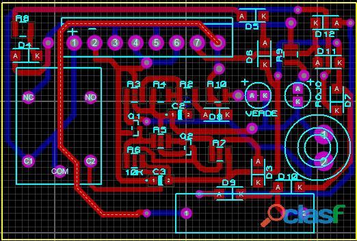 Diseño de circuitos electrónicos y fabricación de impresos, archivo gerber