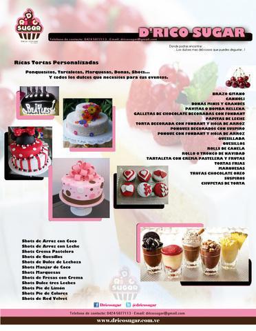 Elaboracion de tortas personalizadas, pasapalos dulces y