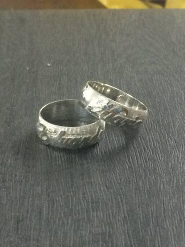 Aros de matrimonio plata 950 con baño de oro