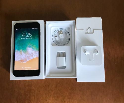 Iphone 7 plus 128gb black, liberado. accesorios nuevos