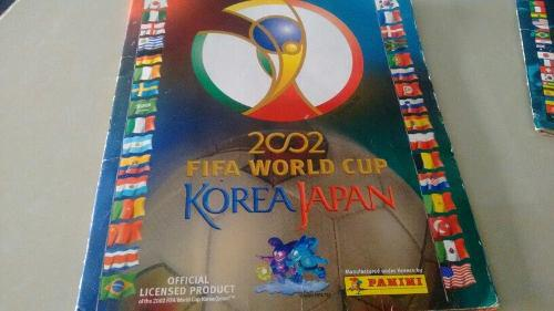 Album panini mundial de fútbol 2002 y 2006 korea y alemania