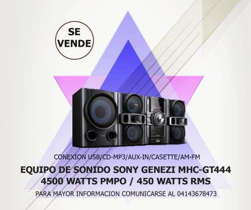Equipo de sonido 4500 watts sony genezi mhc-gt444