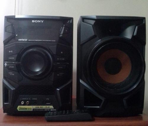 Equipo de sonido mini hi-fi componente sony modelo genezi