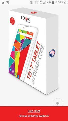 Tablet celular t2p 7 quad-core logic c/auriculares jvc