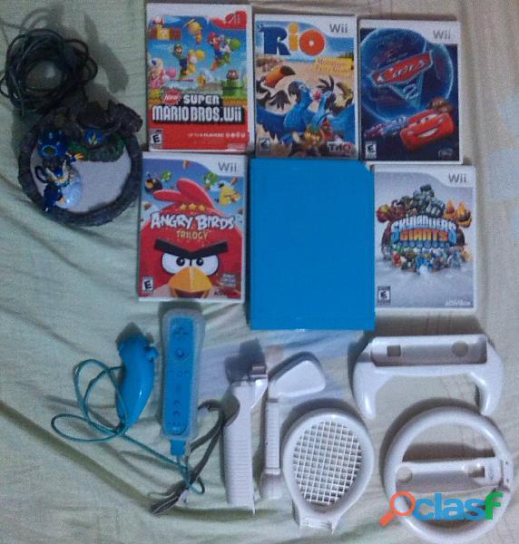Wii azul edicion especial usado.