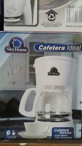 Cafetera eléctrica 6 tazas skyhome nueva somos tienda