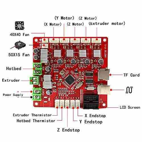 Computacion placa base anet a8 v1.5 para impresora 3d amz