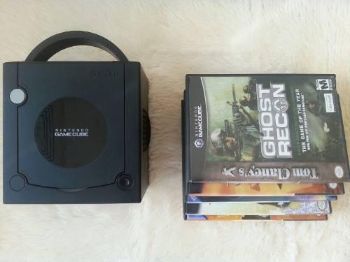 Nintendo gamecube negro con 5 juegos originales