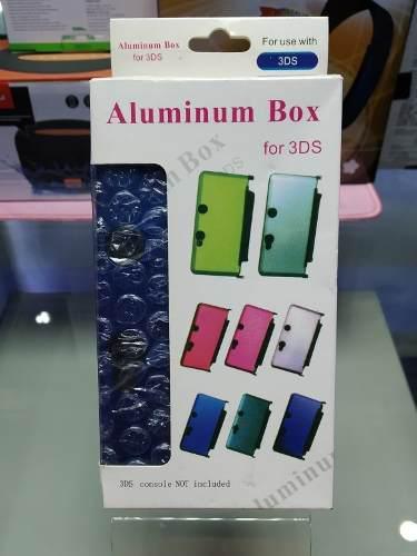 Forro estuche protector aluminio para nintendo 3 ds
