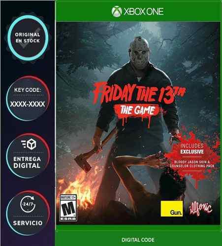 Friday the 13th xbox one codigo digital key licencia