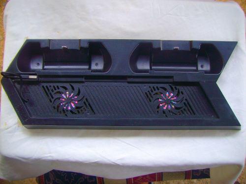 Ps4 base vertical enfriadora + 2 puertos carga playstation 4
