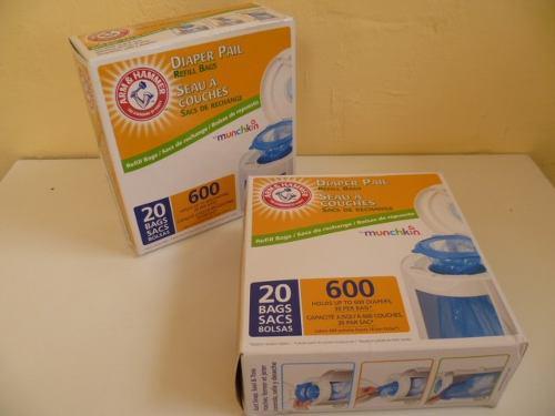 Caja de 20 bolsas plásticas munchkin para desechar pañales