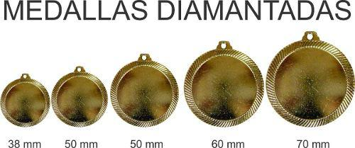 Medalla diamantada 39 mm para preescolar o 6to 2200 bs