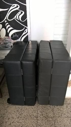 Sofa cama individual (2) tapicería semi cuero con mecanismo