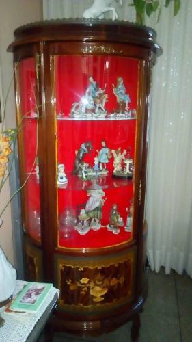 Vitrina de madera y vidrio estilo luis xv 220verdes excelent