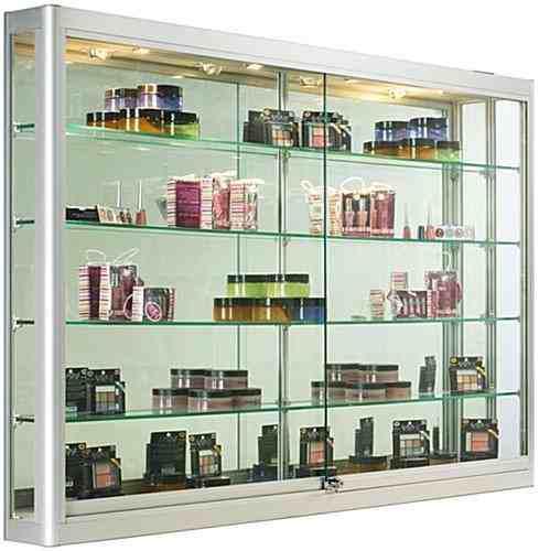 Vitrina de vidrio exhibidora 2 metros x 2 estante remate