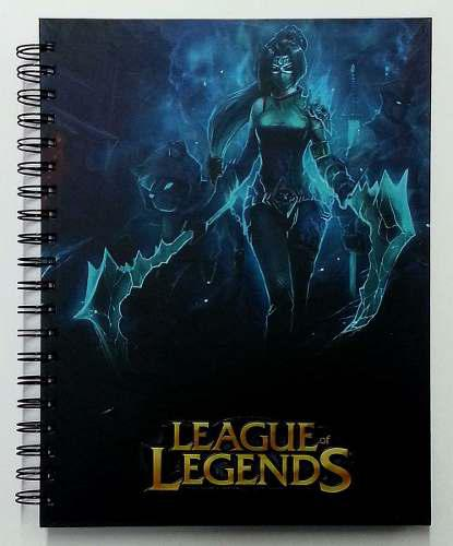 Cuadernos league of legends, halo, s w, assasins creed