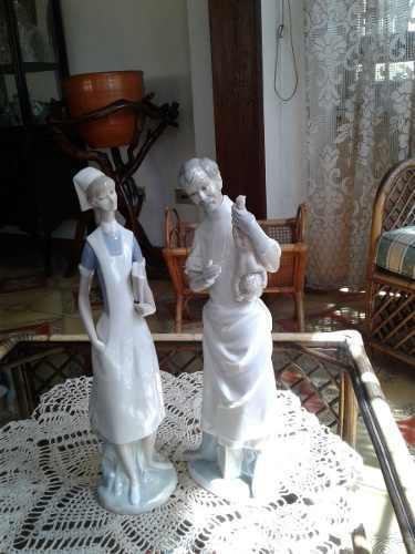 Figura de lladro medico y emfermera