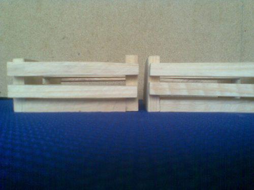 Guacales de madera pino 10x6x6