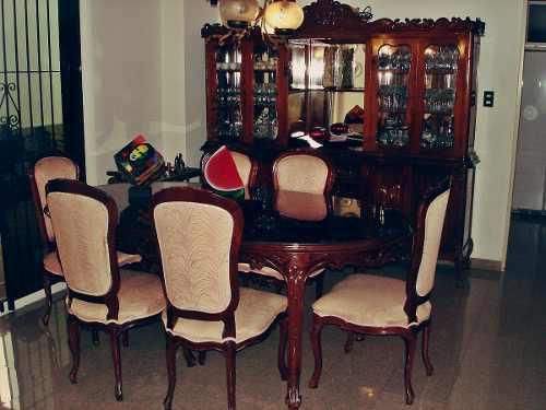 Juego de comedor de estilo mesa 6 sillas ceibo vitrina buen