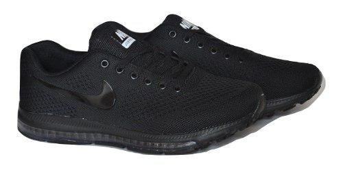 Kp3 zapatos caballeros nike air zoom j negro completo
