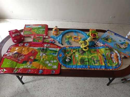 Combo juguetes bebé cars sonajero gimnasio todo en 10