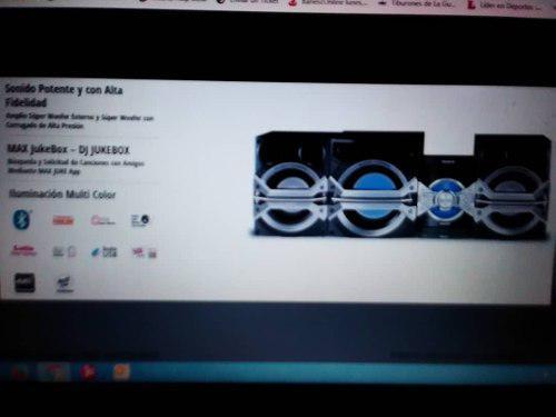Equipo de sonido marca panasonic doble usb con bluetooth