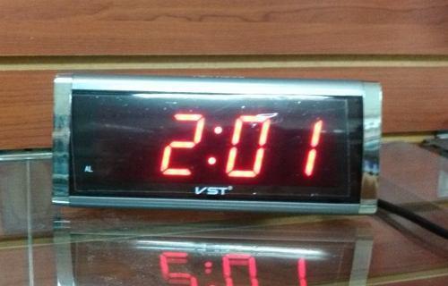 Reloj despertador digital de led