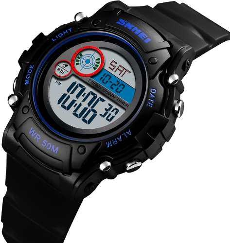 Reloj digital niño deportivo negro resiste 50 m skmei