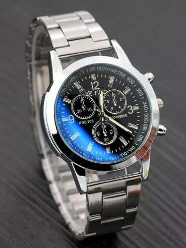 Reloj fhd asiatico caballero pulsera acero elegante cromado