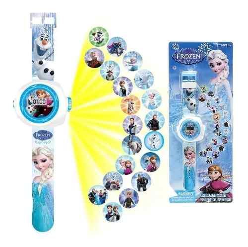 Reloj proyector frozen sofia barbie minie pony niños y
