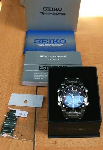 Reloj seiko sportura de cabllero original ($220$.)