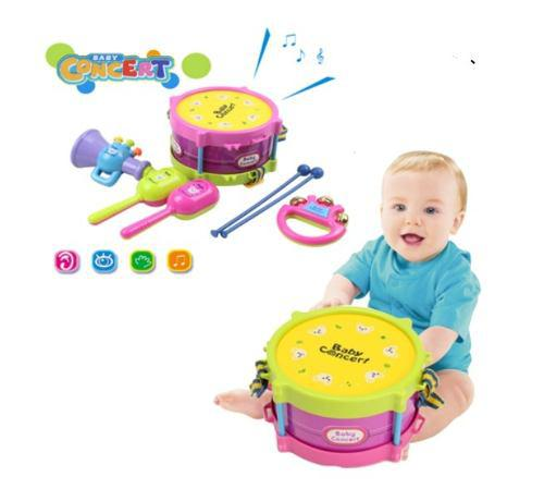 Set 5 sonajero juguete bebe maraca tambor nuevo