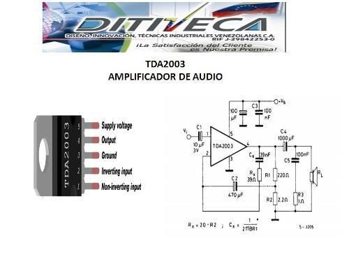 Tda2003, Amplificador De Audio De 10watts
