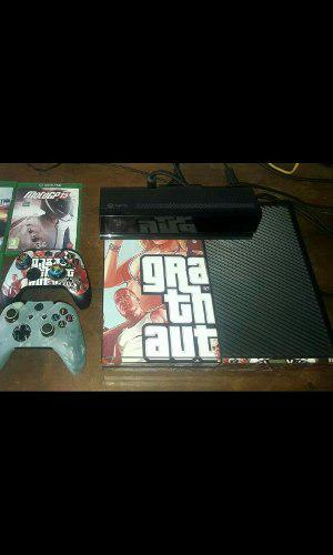 Xbox one 2 controles, kinect, audoifonos, 3 jgs fisi 80 dig