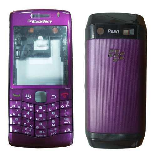 Carcasa nueva para blackberry perl 3g 9100 morada
