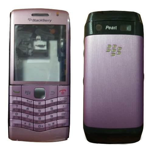 Carcasa nueva para blackberry perl 3g 9100 rosada