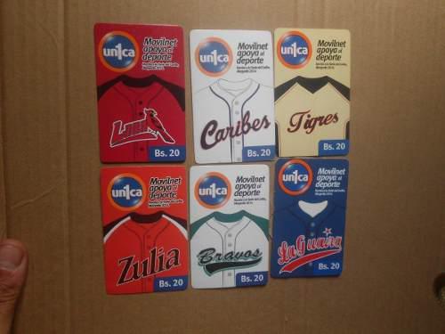 Tarjetas telefonicas de beisbol venezolano usadas de colecc